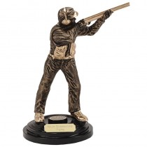 "CLAY PIGEON Shooting Trophy 5.75"" or 8.5"" FREE ENGRAVING Statue Award"