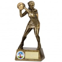 "NETBALL Player Trophy FREE ENGRAVING 2 Sizes 6"" or  7.25"" Personalised Award"