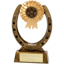 "EQUESTRIAN Horse Shoe Trophy 4"" 5"" or 6"" FREE ENGRAVING Horse Riding Award"