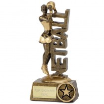 "NETBALL Player Trophy FREE ENGRAVING 2 Sizes 6""or  7.25"" Personalised Award"