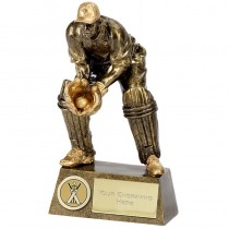 "CRICKET Wicket Keeper Trophy 7.25"" FREE ENGRAVING Personalised Wicket Keeping Award"