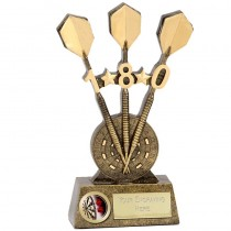 "Celebrate 180 Score DARTS Trophy 7.25"" FREE ENGRAVING Personalised Award"