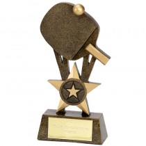 "TABLE TENNIS Bat & Ball Trophy FREE ENGRAVING 2 Sizes 6"" or 7.25"" Award"