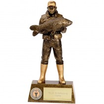 "FISHERMAN Angling Trophy 7.25"" or 9.5"" FREE ENGRAVING Fishing Award New"