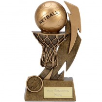 "NETBALL Trophy FREE ENGRAVING 5"" 6"" or 7"" Personalised Award"