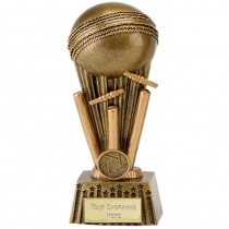 "CRICKET Ball Wicket Trophy 4 Sizes 6"", 6.5"", 7"" or 8"" FREE ENGRAVING Award New"