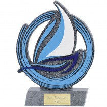 "SAILING Trophy 6.5"" or 8"" FREE ENGRAVING Yachting Sail Boat Yacht Award"