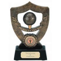 Golf Nearest the Pin Celebration Shield Trophy