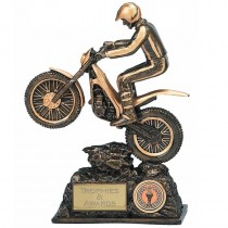 "MOTOCROSS Enduro Trials Bike Trophy FREE ENGRAVING 2 Sizes 7.5"" or 9.5"" Award"