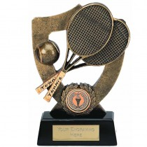 "TENNIS Shield Trophy FREE ENGRAVING 5.5"" or 7"" Personalised Award"