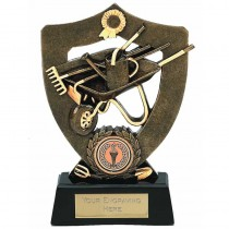 "GARDENING Allotment Shield Trophy 5.5"" or 7"" FREE ENGRAVING 2 Sizes Personalised Award"