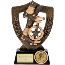 "CYCLING Shield Trophy FREE ENGRAVING 2 Sizes 5.25"" or 6.75"" Personalised Award"