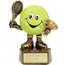 "TENNIS Ball Man Trophy FREE ENGRAVING 4"" Personalised Award"