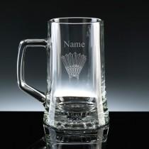 Personalised Badminton Stern Beer Tankard Engraved (1/2 litre)