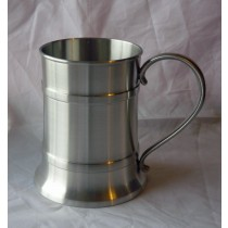Personalised Satin Finish Banded 1 Pint Tankard - Any Message Engraved