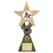 "BASKETBALL Star Trophy 2 sizes 5.5"" or 6.75"" FREE ENGRAVING"