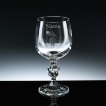Personalised Engraved Cricket Wine Glass - Choice of 3 Sizes