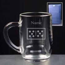 Personalised Dominoes Engraved Beer Tankard (Pint or Half Pint)