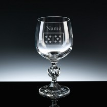 Personalised Engraved Dominoes Wine Glass - Choice of 3 Sizes