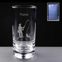 Personalised Engraved Fly Fishing Angling 11oz Hi-Ball Glass