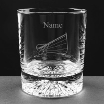 Personalised Lead Crystal Pilot Gig 8oz Whisky / Juice Glass Engraved