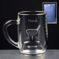 Personalised Golf Beer Tankard Engraved (Half Pint or Pint)