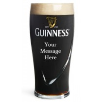 GUINNESS Personalised Pint Beer Glass ENGRAVED FREE Wedding Birthday Gift Dad
