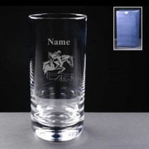 Personalised Engraved Horse Riding Show Jumping 11oz Hi-Ball Glass