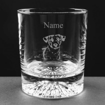 Personalised Engraved Jack Russell Lead Crystal Whisky / Juice Glass