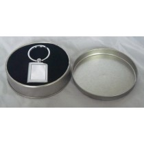 Metal Key Ring in a Tin - Any Message Engraved