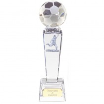 "FOOTBALL Soccer Player Crystal Trophy 7"" 8.5"" or 9.75"" FREE ENGRAVING Glass Award"