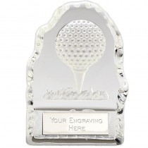 Golf Ball Glass Wedge Trophy