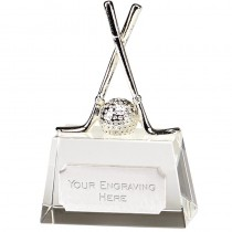 Optical Crystal Golf Trophy