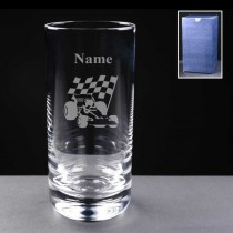 Personalised Engraved Motor Racing 11oz Hi-Ball Glass