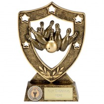 "TEN PIN BOWLING Shield Trophy 5"" or 6"" FREE ENGRAVING 2 Sizes Personalised Award"