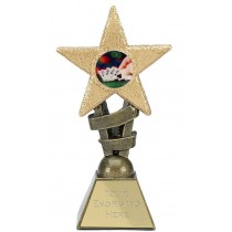 "POKER Star Trophy FREE ENGRAVING 2 Sizes 5.5"" / 6.75"" Playing Cards"
