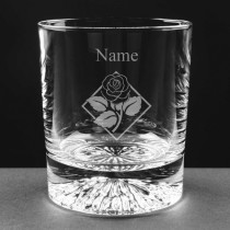 Personalised Lead Crystal Rose 8oz Whisky / Juice Glass Engraved