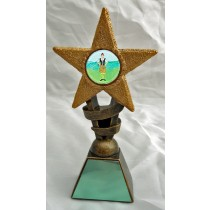 "SCOTTISH DANCER Star Trophy 2 Sizes 5.5"" or 6.75"" FREE ENGRAVING Highland Dancing Award"