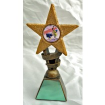 "STREET DANCE Star Trophy 2 Sizes 5.5"" or 6.75"" FREE ENGRAVING Dancer Award"