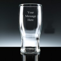 Personalised 1 Pint Beer Glass FREE ENGRAVING Any Message Engraved Gift