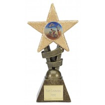 "TRIATHLON Star Trophy 2 Sizes 5.5"" or 6.75"" FREE ENGRAVING Swimming Cycling Running"
