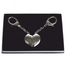 Interlocking Hearts Key Ring