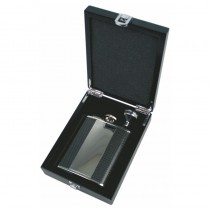 Personalised Carbon Fibre Effect 6oz Hip Flask - Any Message Engraved