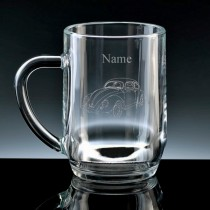 Personalised VW Beetle Engraved Beer Tankard (Pint or Half Pint)