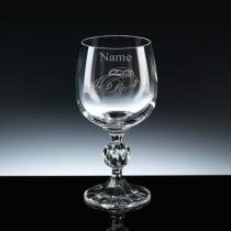 Personalised Engraved VW Beetle Wine Glass - Choice of 3 Sizes