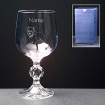 Personalised Engraved Westie Wine Glass - Choice of 3 Sizes