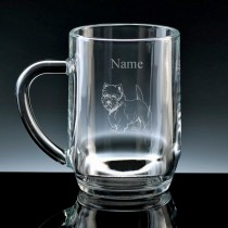 Personalised Westie (West Highland Terrier) Engraved Beer Tankard (Pint or Half Pint)