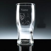 Personalised Westie (West Highland Terrier) Engraved 1 Pint Beer Glass